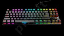 Žaidimų klaviatūra OZONE STRIKE BATTLE SPECTRA RGB US CHERRY MX RED