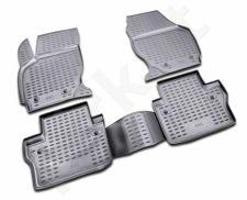 Guminiai kilimėliai 3D VOLVO S80 2006->, 4 pcs. /L64005G /gray