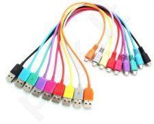 4World Kabelis USB 2.0 MICRO 5pin AM/B MICRO perkėlimo/įkrovimo 1.0m geltonas