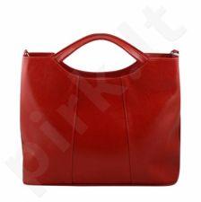 DAN-A T105 raudona rankinė, odinė, moterims