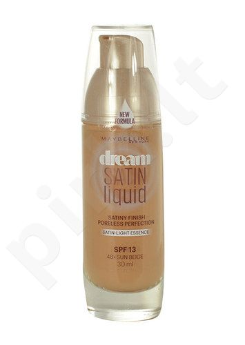Maybelline Dream Satin Liquid Foundation SPF13, kosmetika moterims, 30ml, (48 Sun Beige)