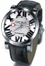 Laikrodis LOCMAN TOSCANO LIMITED EDITION BLACK/WHITE 029000WHNBKCPSK