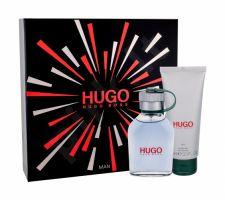 HUGO BOSS Hugo Man, rinkinys tualetinis vanduo vyrams, (EDT 75 ml + dušo želė 100 ml)