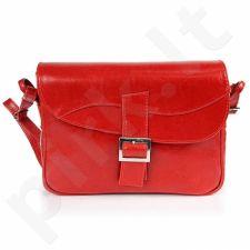 DAN-A T188 raudona rankinė, odinė, moterims