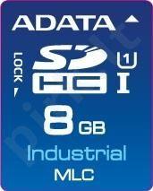 Atminties kortelė Adata Industrial SDHC 8GB, MLC, nuo 0 iki 70C