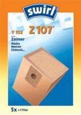 Maišeliai dulkių siurbliams SWIRL Z107/5 Pop. D.s. filtras