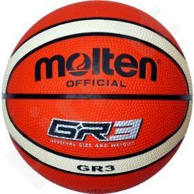 Krepšinio kamuolys rubber BGR3-OI orange/ivory
