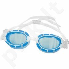 Plaukimo akiniai Aqua-Speed Alpha balta-mėlyna