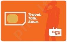 TravelSim tarptautinio ryšio SIM kortelė su 2.90Eur pokalbiams