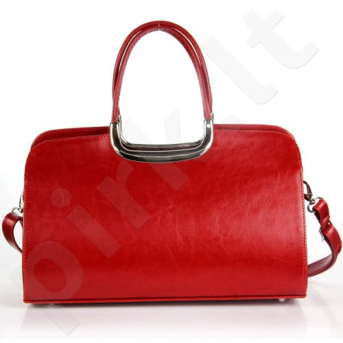 DAN-A T260 raudona   iš natūralios odos