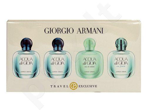 Giorgio Armani Mini Set rinkinys moterims, (2x5ml EDP Acqua di Gioia + 5ml EDT Acqua di Gioia + 5ml EDT Acqua Di Gioia Eau Fraiche)
