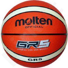 Krepšinio kamuolys rubber BGR5-OI oange/ivory