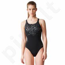Maudymosi kostiumėlis Adidas Rubber-Printed Swimsuit W BR5718