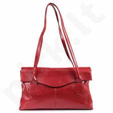 DAN-A T39 raudona rankinė, odinė, moterims