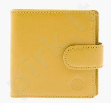 KRENIG Rainbow 14039 geltona piniginė iš natūralios odos, moterims