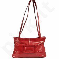 DAN-A T45 raudona rankinė, odinė, moterims