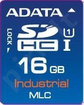 Atminties kortelė Adata Industrial SDHC 16GB, MLC, nuo -40 iki +85C