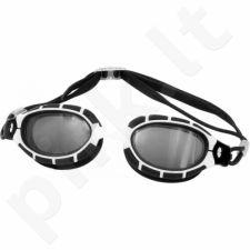 Plaukimo akiniai Aqua-Speed Alpha balta-juodas