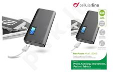10000 mAh išorinė baterija FREEPOWER Cellular juoda