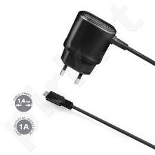 micro USB sieninis įkroviklis 1A Celly juodas