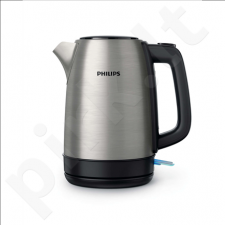 Philips Kettle HD9350/91 Standard, Stainless steel, Stainless steel, 2200 W, 1.7 L, 360° rotational base