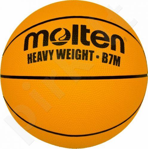 Krepšinio kamuolys rubber B7M extra weight 1400g
