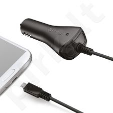micro USB automobilinis įkroviklis 1A Celly juodas