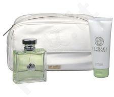 Versace (EDT 100 ml + 100 ml kūno losjonas + kosmetikos krepšys) Versense, rinkinys moterims