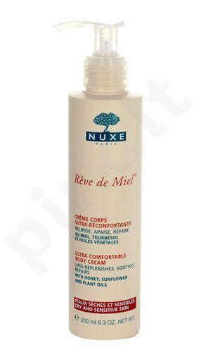 Nuxe Reve de Miel Ultra Comfortable kūno kremas, kosmetika moterims, 200ml