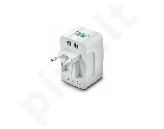 universalus adapteris 100/240V Celly white