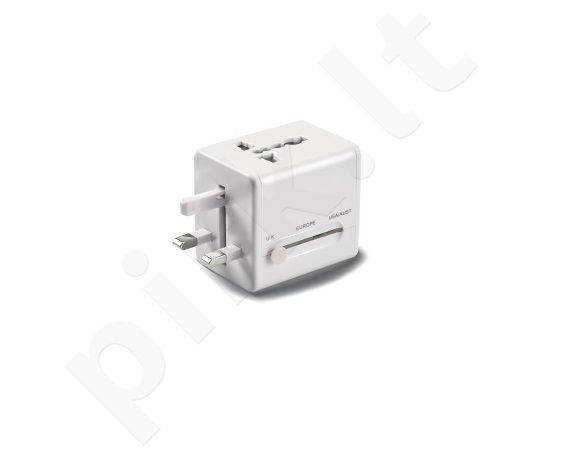 universalus sieninis įkroviklis 100/240V Celly baltas