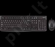 Klaviatūra Logitech + Pelė Desktop MK120, US, USB, Juoda