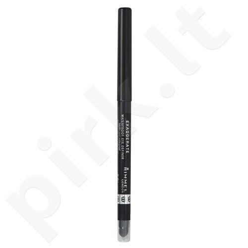 Rimmel London Exaggerate, akių kontūrų pieštukas moterims, 0,28g, (261 Noir)