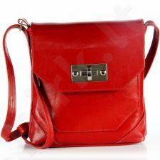 DAN-A T264 raudona rankinė, odinė