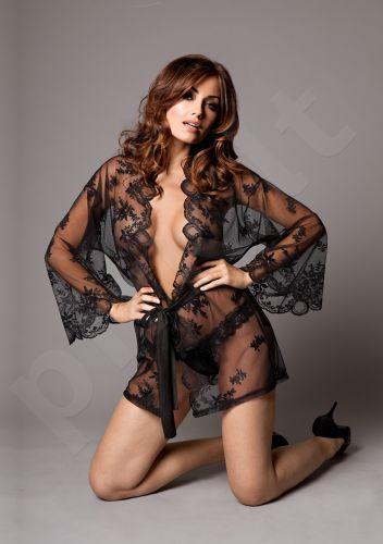 Seksualus kimono su kelnaitėmis - Juodas XXL/XXXL