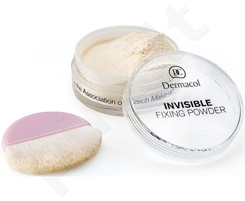 Dermacol Invisible Fixing Powder Light, pudra makiažo užbaigimui 13g, kosmetika moterims