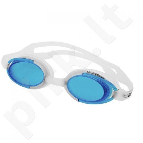 Plaukimo akiniai Aqua-Speed Malibu balta-mėlyna