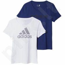 Marškinėliai Adidas 2 pak Branding 2IN1 W AY5003