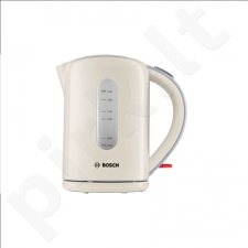 Bosch TWK7607 Standard kettle, Plastic, Cream, 2200 W, 360° rotational base, 1.7 L