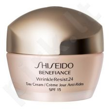 Shiseido Day Cream SPF15, Benefiance Wrinkle Resist 24, dieninis kremas moterims, 50ml