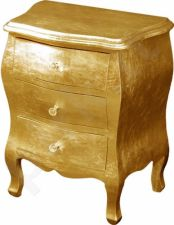 Aukso spalvos komoda 50x40x72 cm
