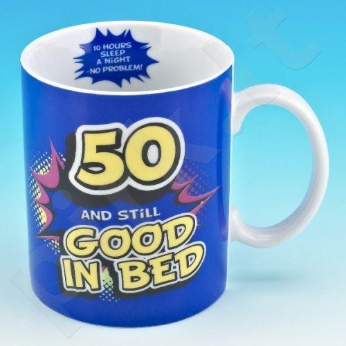 """Linksmas gimtadienio puodelis """"50"""""""