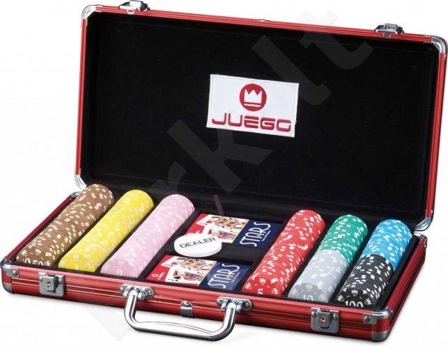 Pokerio žetonų rinkinys Juego Poker 300, 14g. su vertėmis