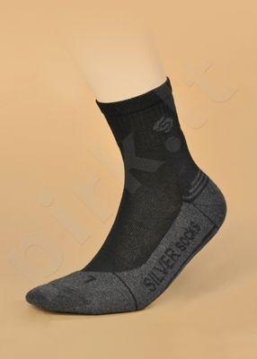 ATHLETIC DEODORANT® SILVER besiūlės kojinės su sidabro jonais intensyviai sportuojantiems (šviesiai pilka/grafitas)