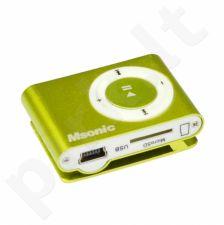 MP3 grotuvas Msonic, Kortelių skaitytuvas, Ausinės, miniUSB kabelis, Geltonas