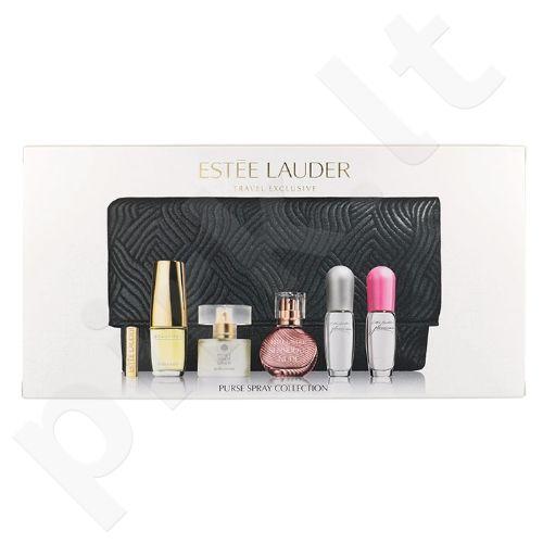 Esteé Lauder Mini Set rinkinys moterims, (4ml EDP Sensuous Nude + 4ml EDP Pure White Linen + 4,7ml EDP Beautiful + 4ml EDP Pleasures + 4ml EDP Pleasures Eau Fraiche + kosmetika krepšys)