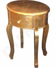 Aukso spalvos staliukas 50x40x72 cm