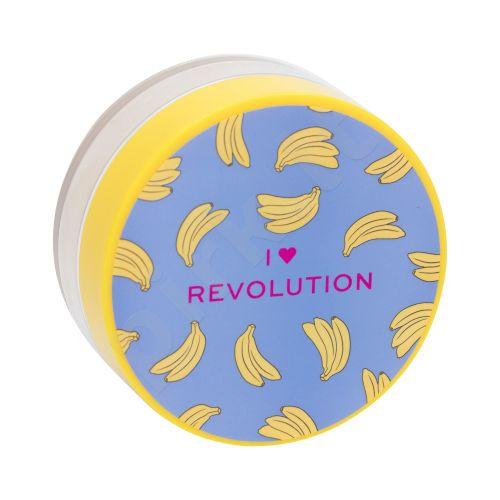 Makeup Revolution London I Heart Revolution, Loose Baking Powder, kompaktinė pudra moterims, 22g, (Banana)