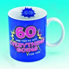 """Linksmas gimtadienio puodelis """"60"""""""