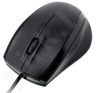 Pelė iBOX CROW, Optinė, USB, Juoda